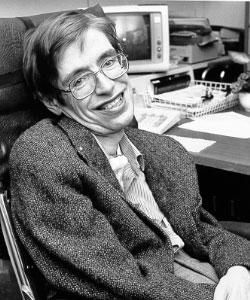 Stephen Hawkings, atteint de la SLA (photo: NASA)